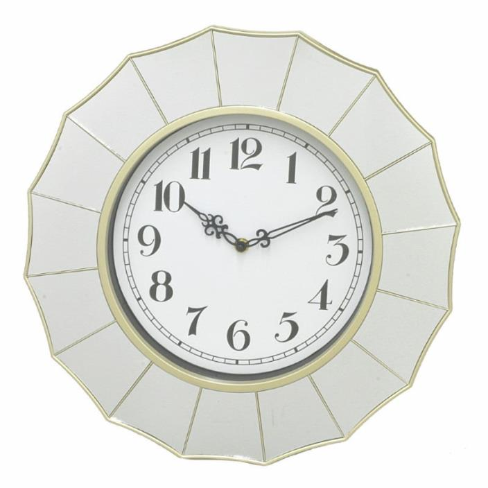 Alluring Wall Clock With Mirror Frame - Benzara