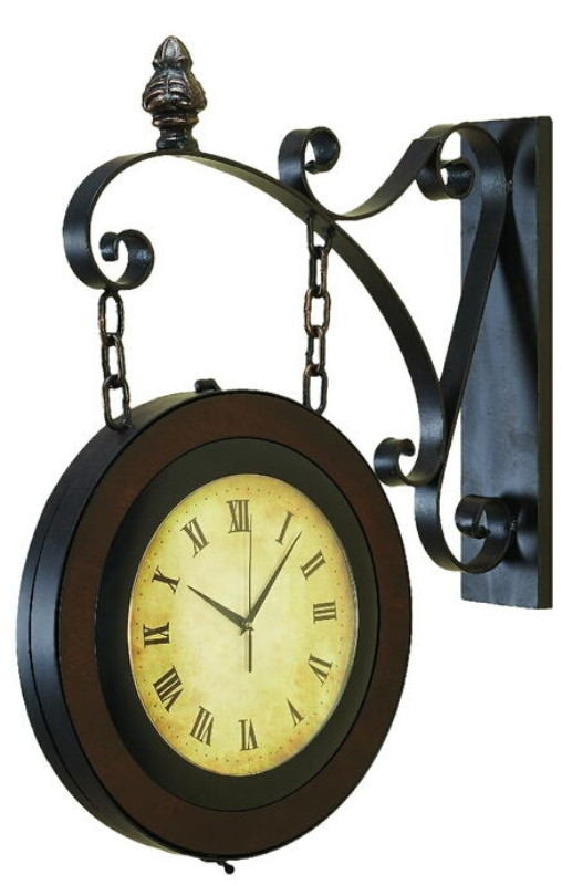 Metal Wall 2 Side Clock For Better Time Keeping