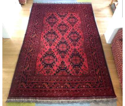 Hand-knotted rug from Afghanistan in mint condition