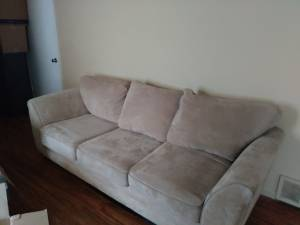 Beige couch & big chair (Whitehaven)