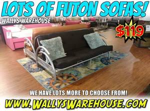 CLEARANCE - Futon Sofa Bed - Reclining Couch Furniture Living Room (free