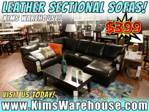 Sectional Brown Leather Couch - New Sofa Furniture - Living Room (free delivery