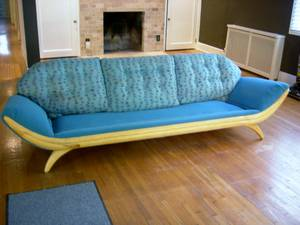 Mid-Century Adrian Pearsall Gondola Sofa (Minneapolis)