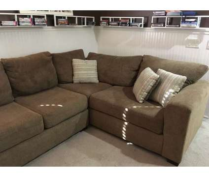 Sectional sofa beautiful toasted caramel color