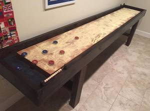 Reclaimed Pine and Oak Shuffleboard Table (Baltimore, MD)