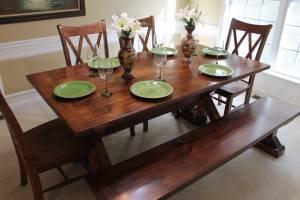 Handcrafted Farmhouse - Modern Table (Suwanee)