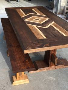 Beautiful farmhouse table and bench (Bella Vista)