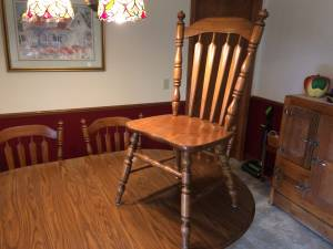 Tell City oak dining room set (El Campo, TX)