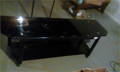 Heavy Duty Glass Top TV Stand