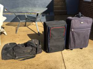 Three luggage bags (Arlington)