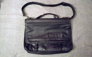 Leather Book Bag (West Bend)