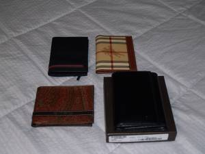 new Gucci, Burberry, and Etro men's wallet (Carrollton)