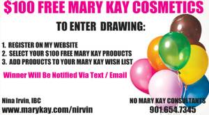 $100 FREE MARY KAY DRAWING (Natchez)