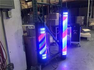 red blue lights LED signs barber shop hair cut salon sale (100% New)