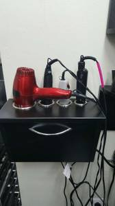 Curling iron and blow dry holder (Laurel)