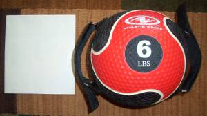6-Pound Medicine Ball w/Dual Handles & Wall Chart (Far East Side Of Indy)