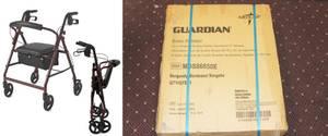 New in Box - Medline Guardian Ultralight Rollator w/4 6
