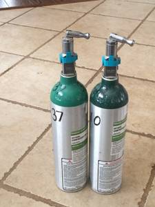Two (2) Oxygen Cylinder (M6-Tank), Regulator, & Tubbing (NW Okc)