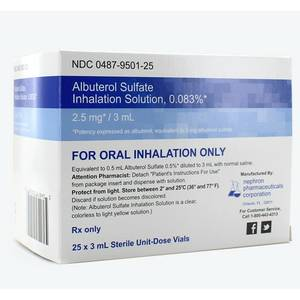Albuterol Sulfate Inhalation Solution (for use in Nebulizers) (Mesa)