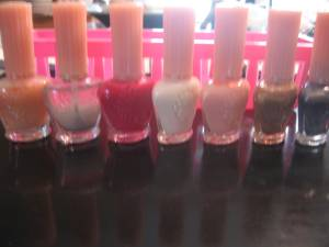 Manicure nail stickers and Anna Sui Nail Polish Lot