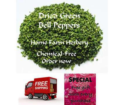 Green Bell Peppers Freeze Dried, Order now, FREE shipping & a FREE gift