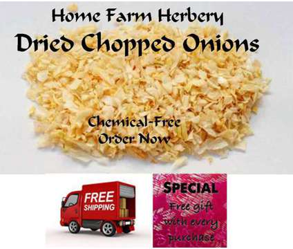 Onions Chopped and Dried, Order now, FREE shipping & a free gift
