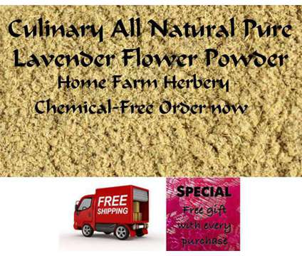Lavender Flower Powder, Order now, FREE shipping & a free gift