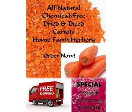 Carrots Diced and Dried, Order now, FREE shipping & a free gift