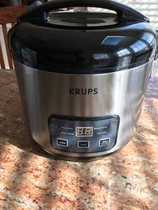 Krups Automatic Rice Cooker 3.21, 10 cup, excellent condition (Blue Bell)