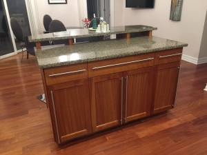 Kitchen cabinets, island, bar (Waukesha)
