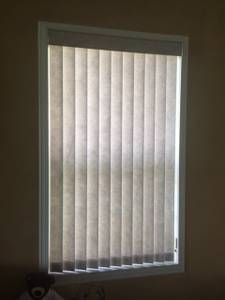 Fabric Vertical Blinds For Window (COCONUT CREEK)