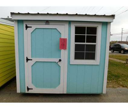 6x8 Painted Garden Shed