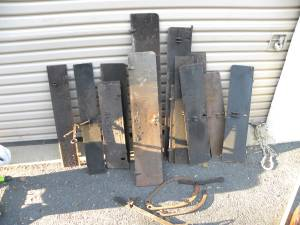 Fireplace Handles and Damper Plates $35 (Alexandria,Va)