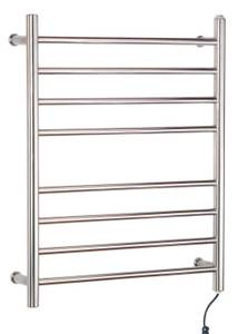 Myson Wall Mount 8 Bar Matte Stainless Steel Pearl Towel Warmer (Plano)