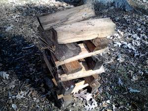 oak firewood stacks (newark delaware)