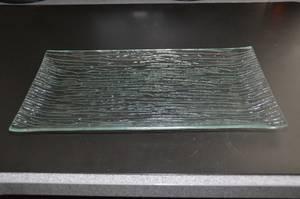 FUSED ART GLASS APPETIZER HORS D'OERVRE PLATE / SERVING DISH *** (Aurora