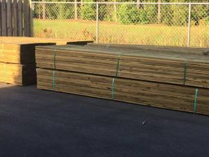 5/4x6 Treated Radius Edge Decking (Wilmington)