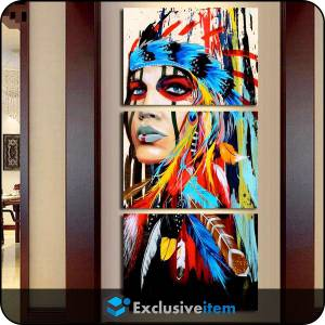 Would you like to hang NATIVE AMERICAN GIRL WALL CANVAS
