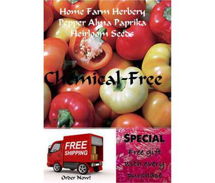 Pepper Alma Paprika Heirloom Seeds, Order now, FREE shipping & a free gift