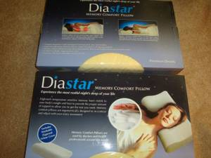 2- NEW-DIASTAR MEMORY COMFORT PILLOWS (GALLOWAY Oh)