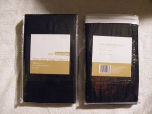 pillow cases(2) - black - NEW in package (Boston & Northward)