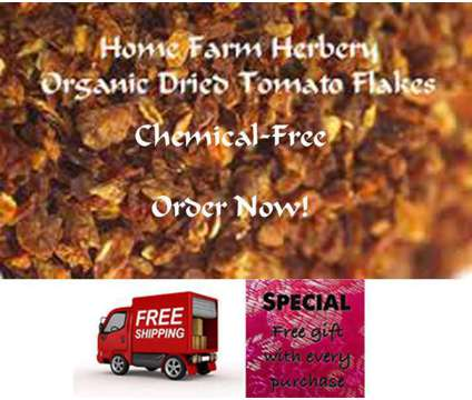 Sun Dried Tomato Flakes, Order now, FREE shipping & a free gift also