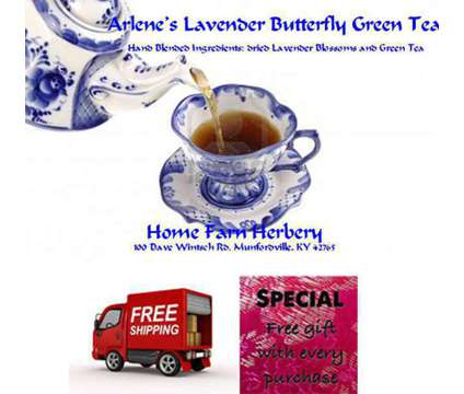 Arleneâ??s Lavender Butterfly Green Tea, Order now FREE shipping & get a FREE