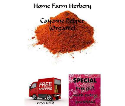 Cayenne Pepper (ground) Order now, FREE shipping + a free gift included