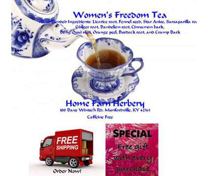 Women's Freedom Tea, Order now, FREE shipping + a free gift