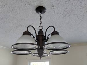 Hampton Bay 5 Light Oil Rubbed Bronze Chandelier (Fishers)