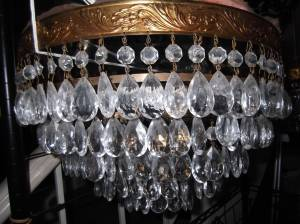 5-Tiers of Crystals! CRYSTAL CHANDELIER ......... (THREE available) (each /