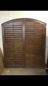 New Mahogany Arched Plantation Shutters (Shawnee)