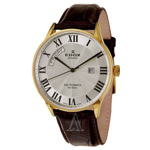 EDOX Men's Les Vauberts Day Date Automatic Watch Swiss made (Columbus)