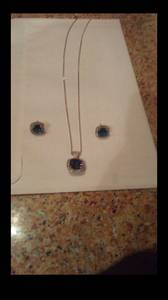 Kays silver earrings and necklace set (Cambridge)